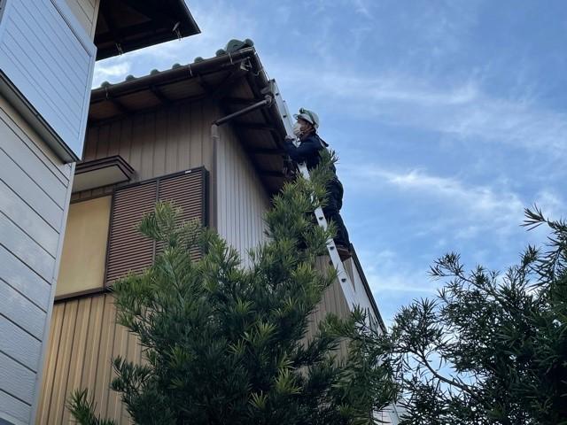 安城市 雨樋の破損 火災保険