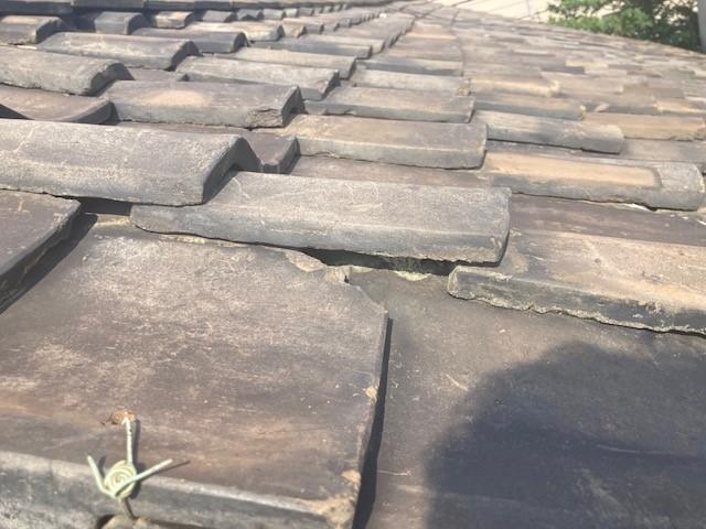 土葺き屋根の葺き替えをご検討のK様邸の屋根調査